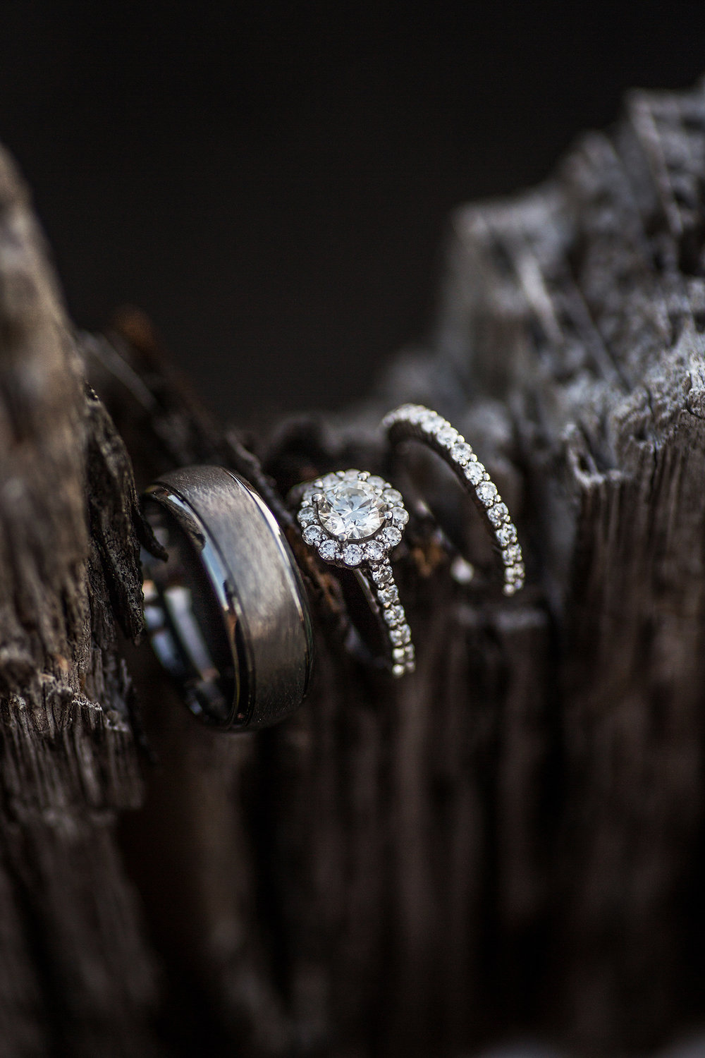 wedding bands in wood