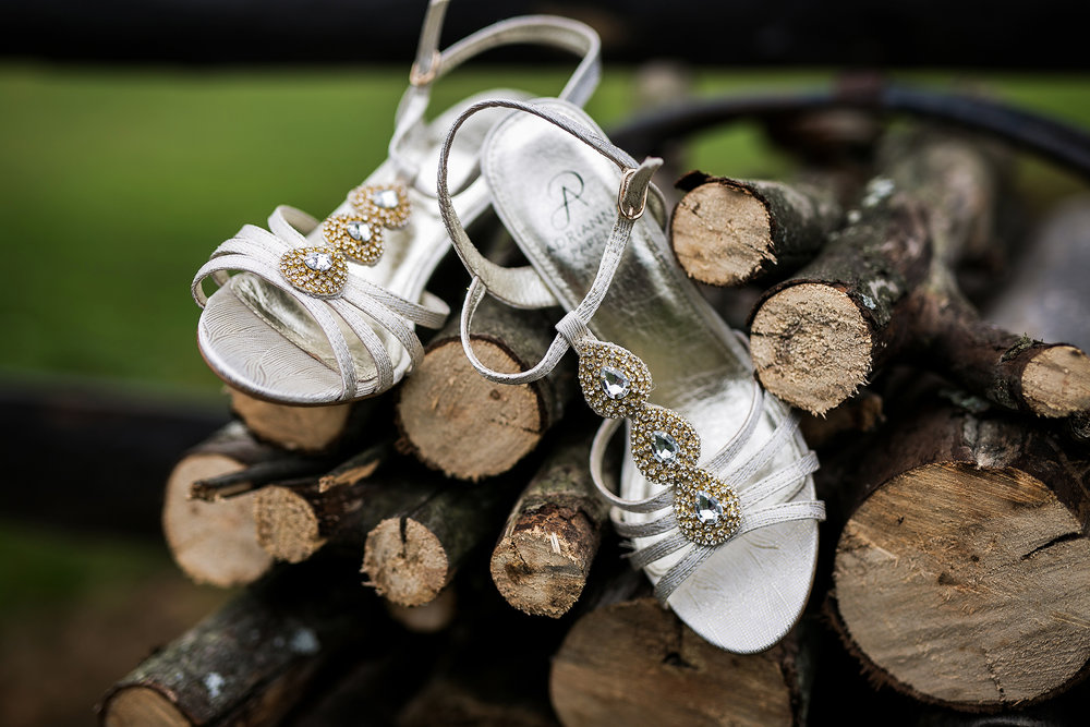shoes in firewood