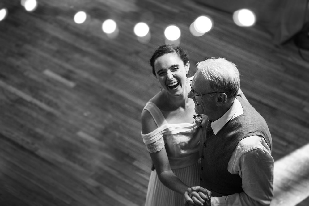 bride and groom first dance state college