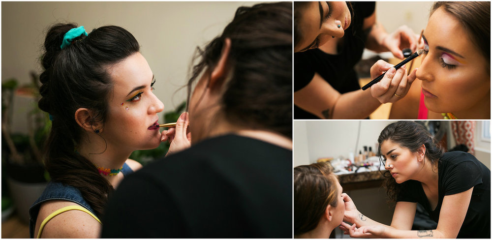 makeup application for the VIP senior representative group styled photoshoot