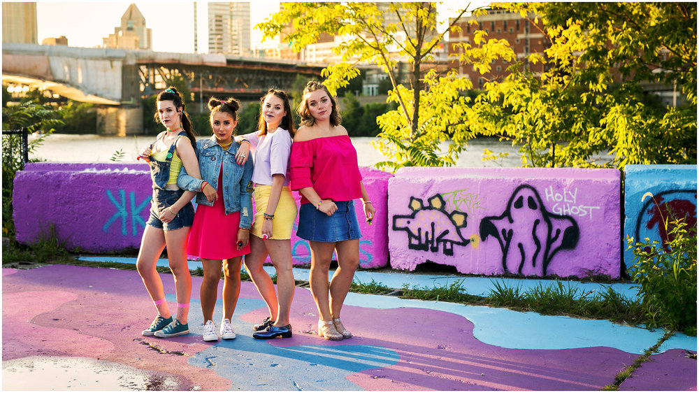 Victoria Irene Photography high school senior representative group lisa frank styled photoshoot at the color park in pittsburgh, Pa