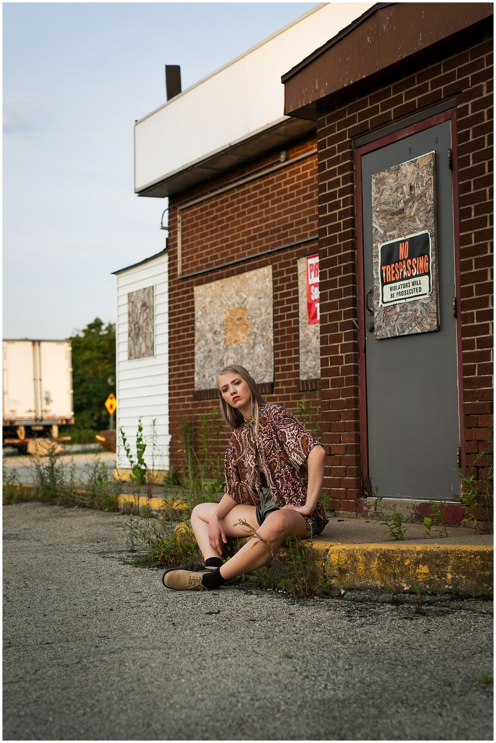 Gas Station High Fashion Photoshoot Pittsburgh Pennsylvania Thrift Style