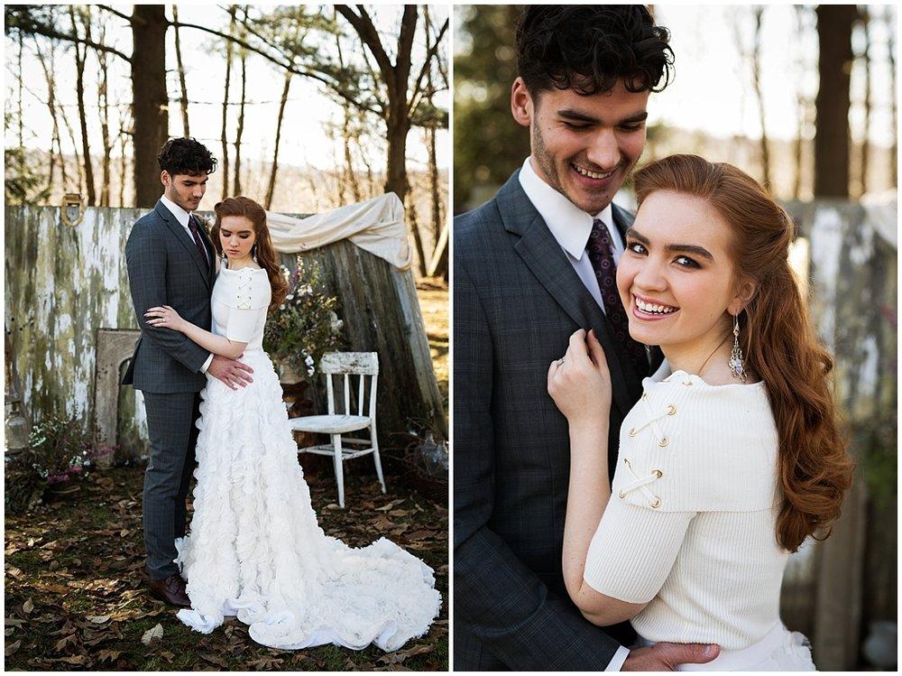 winter wedding styled photoshoot pittsburgh pennsylvania