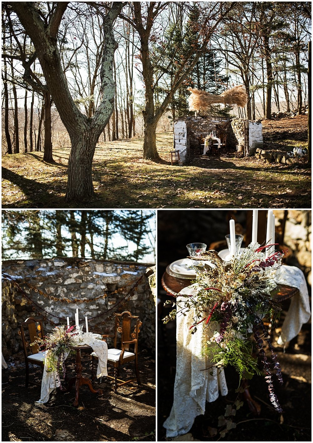 winter wedding styled photoshoot pittsburgh pennsylvania sweetheart table