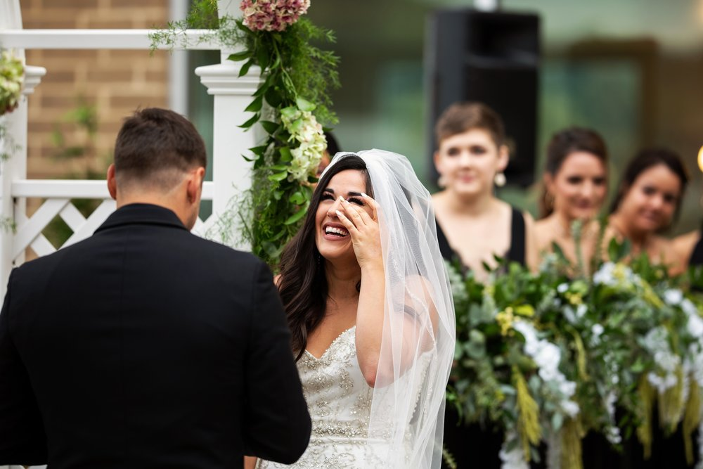 Bride Tears up during Ceremony