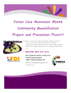 Foster Care AWareness month flyer