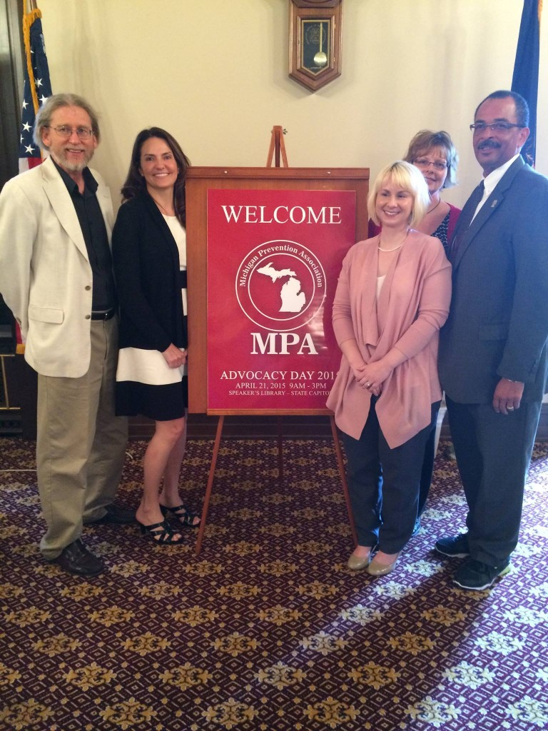 Our Executive Director Marsialle Arbuckle with members of the Michigan Prevention Association.