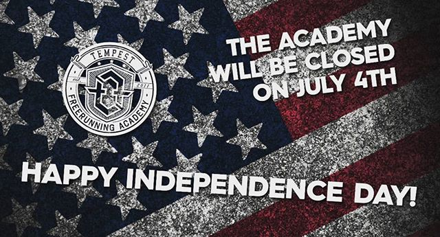 Tempest Academy is CLOSED today, July 4th!  Happy Independence Day!! 🗽  #4thofjuly #trufreedom #tempestvalley #tempestsouthbay #tempestnorthcounty #happy242