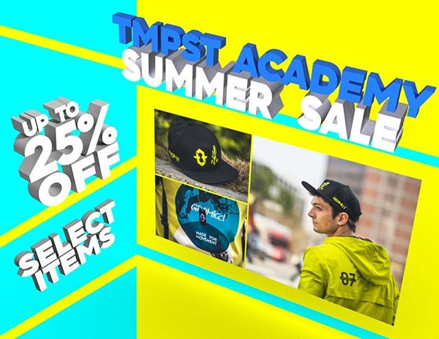 Update your wardrobe with some gear from the Academy. Discounts for a limited time!  #Summer2018 #summersale #Parkour #fresh #freerunning #threads