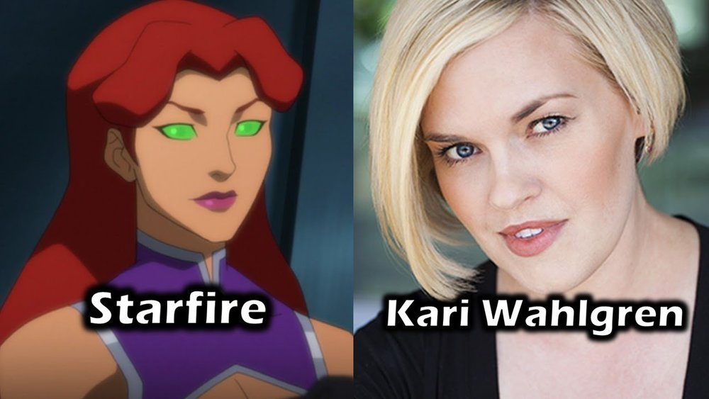 Kari Wahlgren Voice of Starfire in Teen Titans Judas Contract and Teen Titans vs Justice League.
