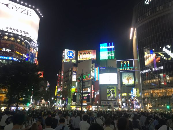 Shinjuku and Shibuya Crossing