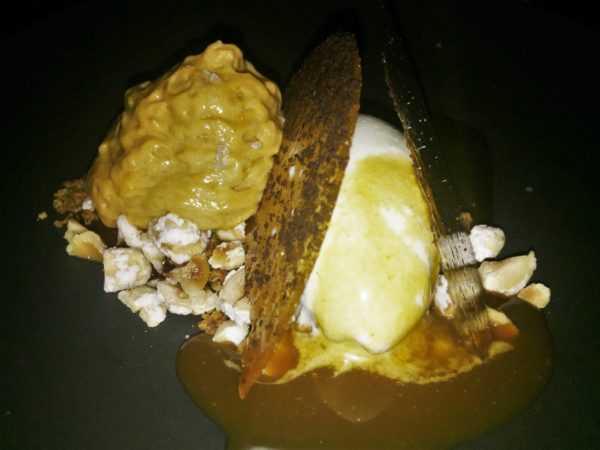 Hazelnut and Coffee: raw milk ice cream/bourbon praline/toasted milk