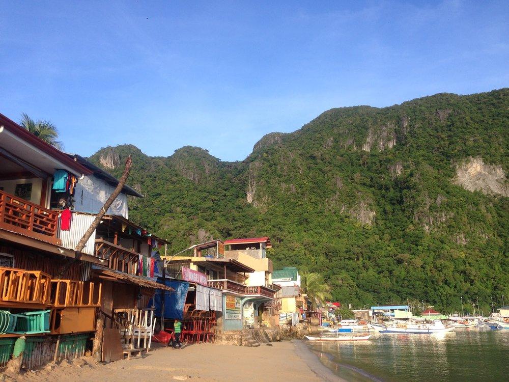 The shore at El Nido town