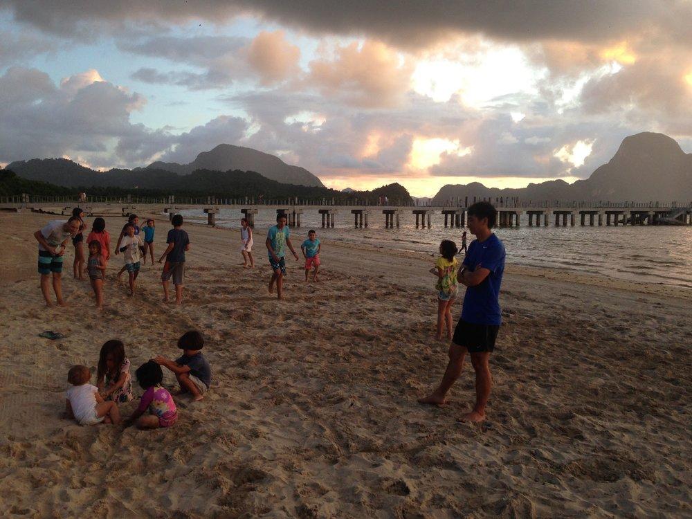 Sunset at Lio Beach