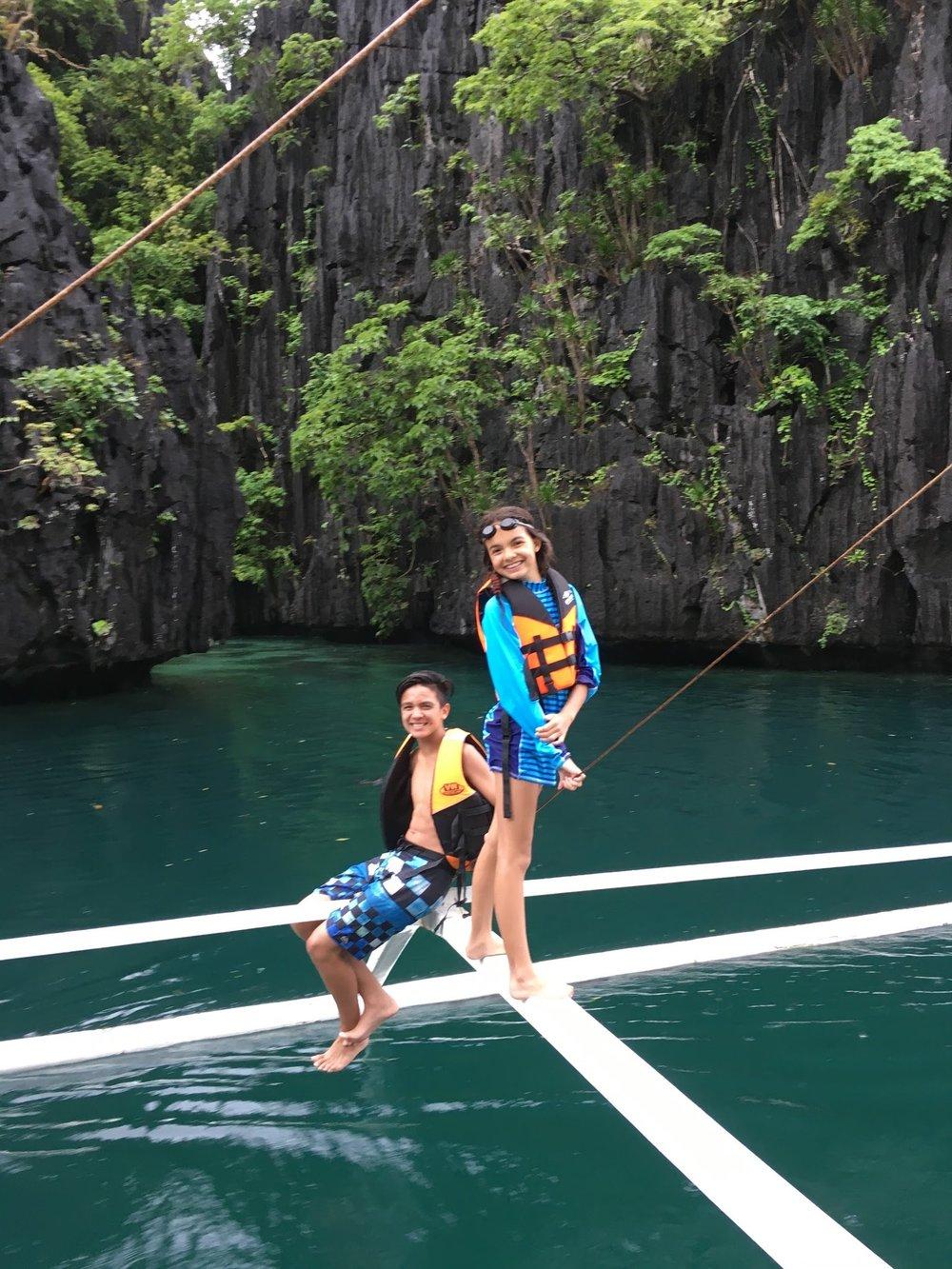 Floating through Big Lagoon