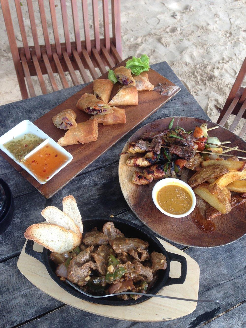 Food at Maramegmeg Beach Bar
