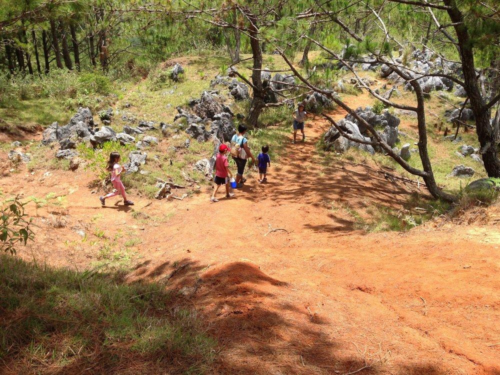 Hiking towards Blue Soil Hills
