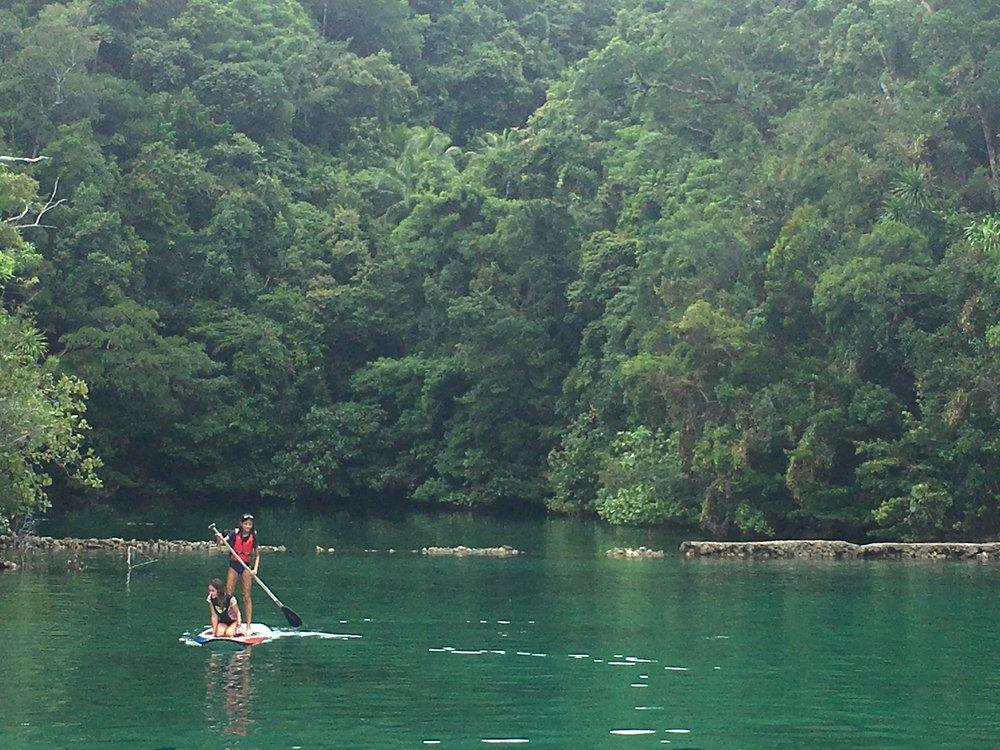 We enjoyed bounteous kayaking and paddle-boarding