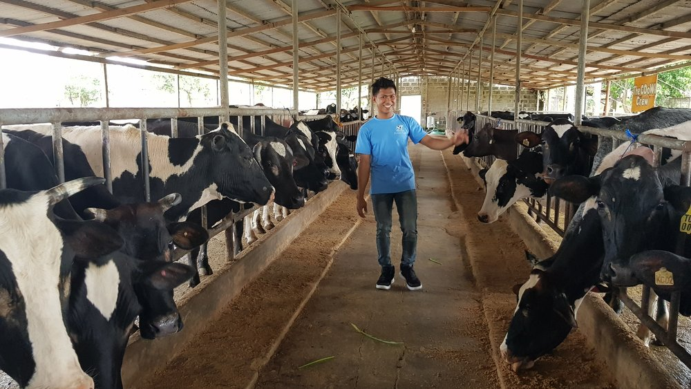 Our tour guide and dairy farmer Mike
