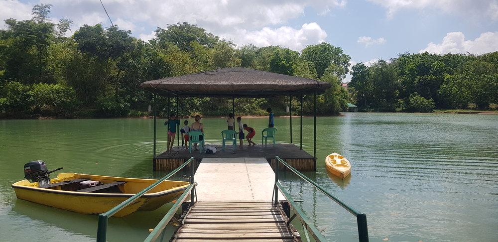 The swimming dock