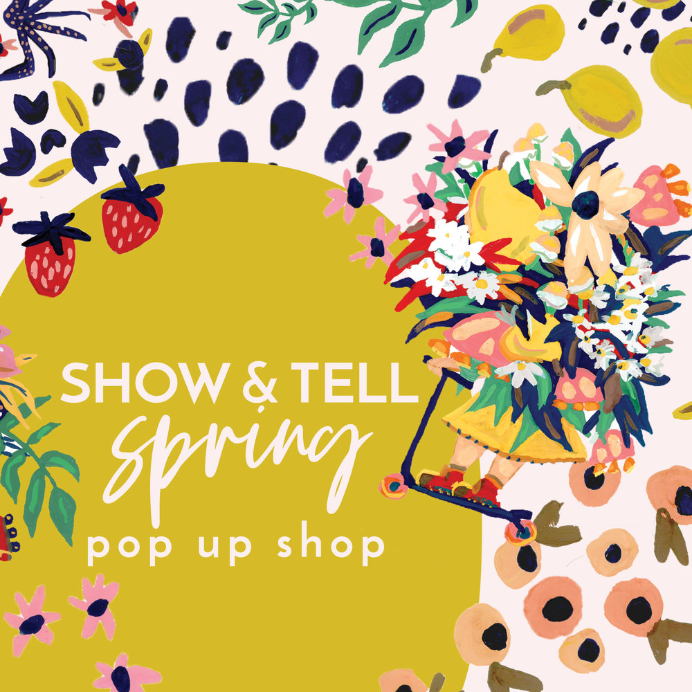 Show & Tell Holiday Pop Up Shop Asheville, NC November 30 through December 19 open 10am-8pm everyday Find a gift for everyone on your list and shop over 125 local + indie makers, designers, and vintage collectors.