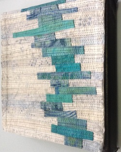 "Musings #1 6""x6"" - cotton, dye, thread"