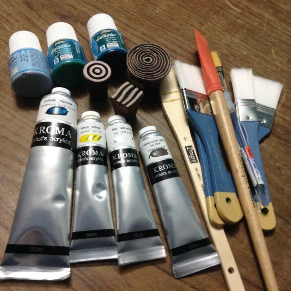 paint, mark making tools