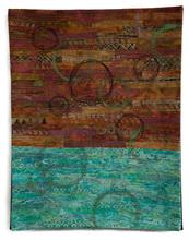 "Musings #11 - 16""x20"" - cotton, dye, thread, acrylic paint"