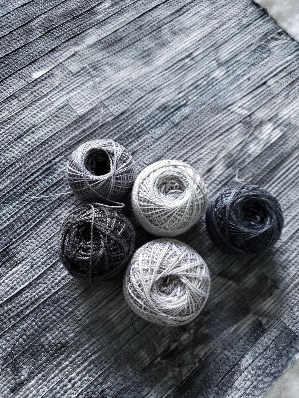 Choosing thread...adding subtle texture