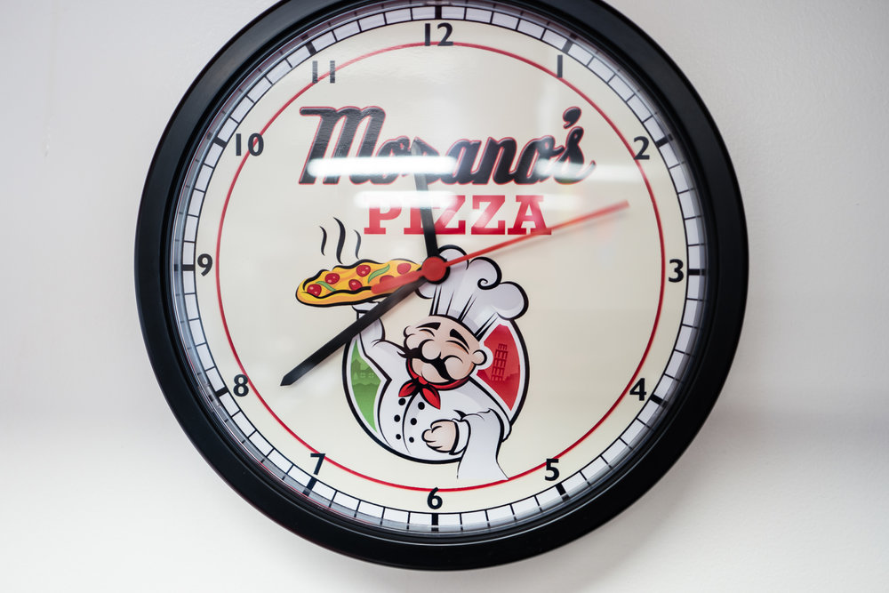 Pizza time at Morano's