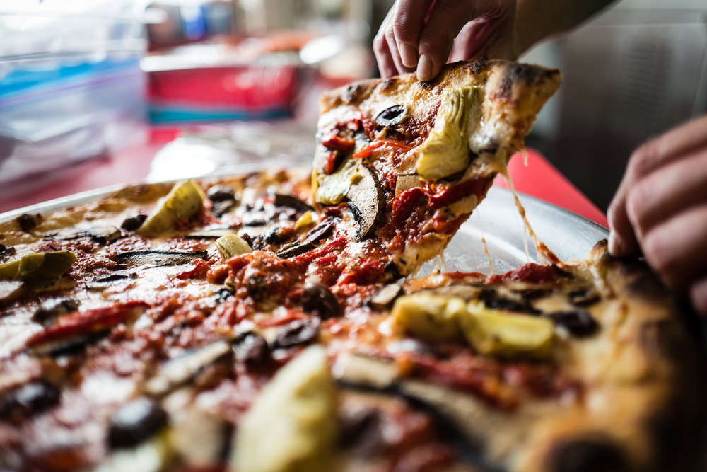 Morano's Authentic Pizza - the first slice