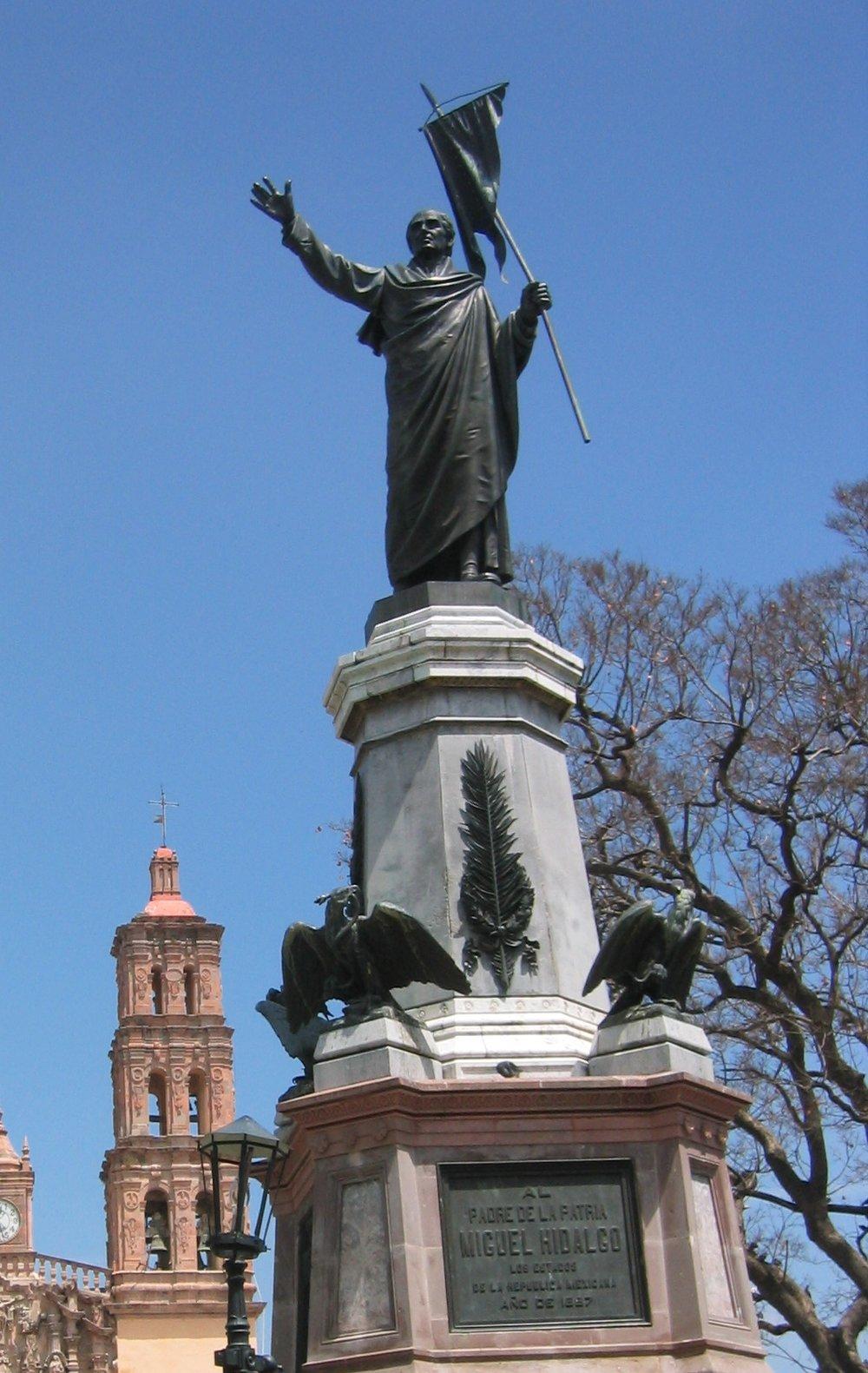 Statue of General and Priest Miguel Hidalgo y Costilla of Dolores Hidalgo Cuna de la Independencia Nacional
