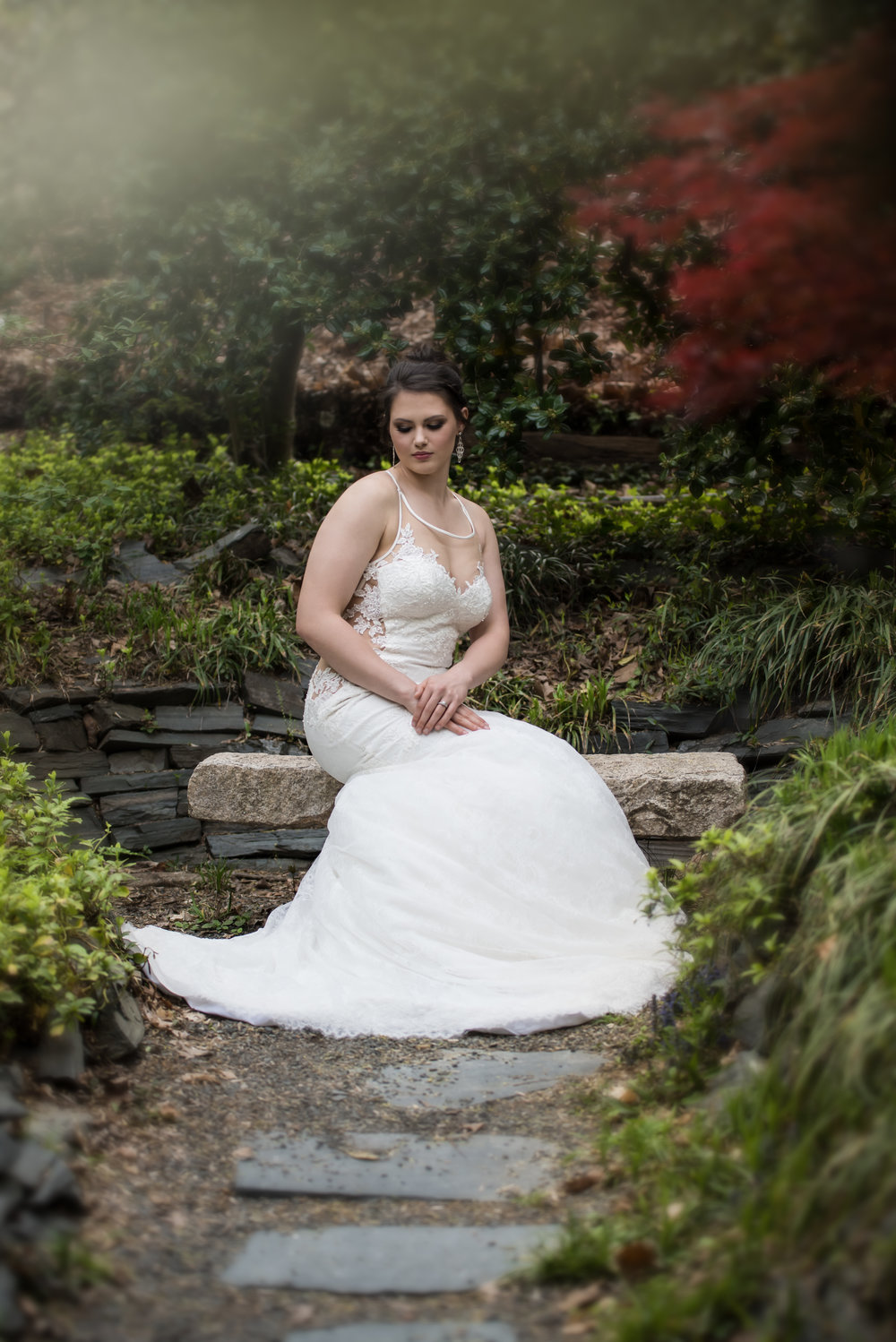 - Most recently, We captured an amazing bridal session in the gardens and couldn't be more happy with the results. The natural foliage adds so much to the beauty of these photos.   We'd love to photograph you in at the Botanical Gardens of UNCC!