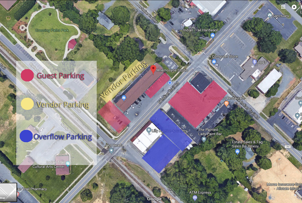 Parking information for Strawberries and Champagne event- if you have further questions please call us at 704-839-0588!