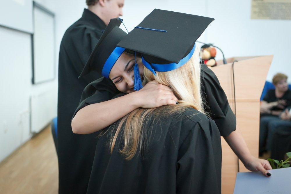 a happy graduate during a graduation ceremony