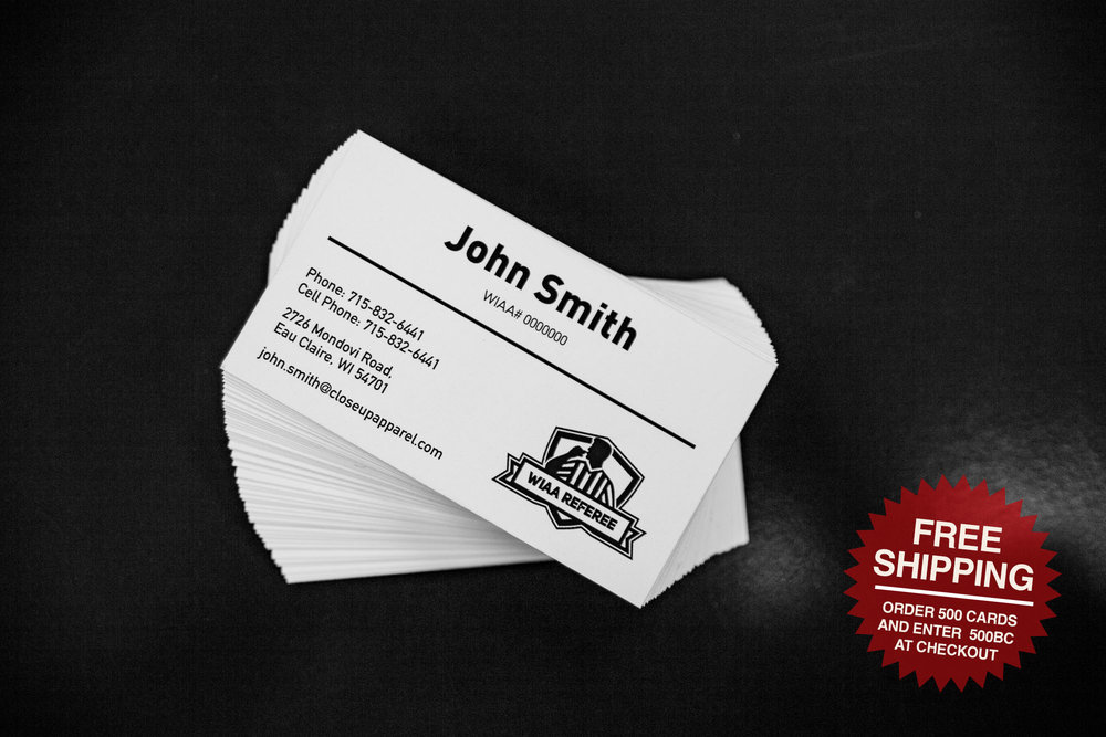 PersonalizedOfficial's Business Card - Order, Ship, and Share your personalized officiating business card.
