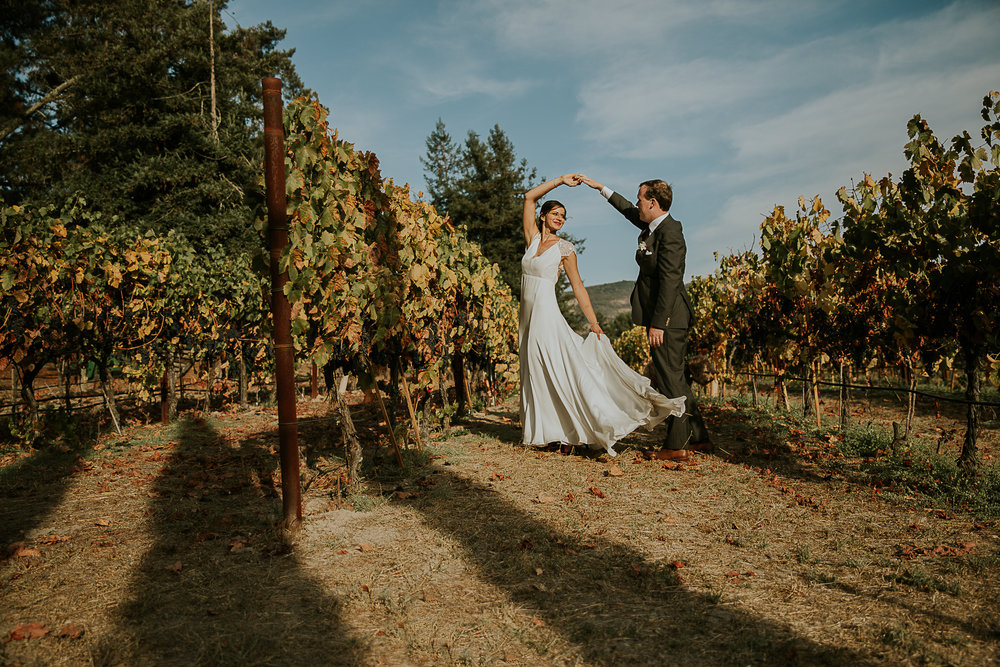 Dancing in the vineyard
