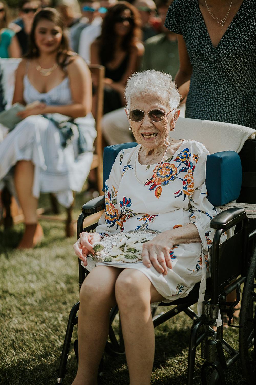 Grandma as the flower girl