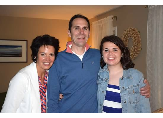 A photo of me and my parents, Lisa and Joe.