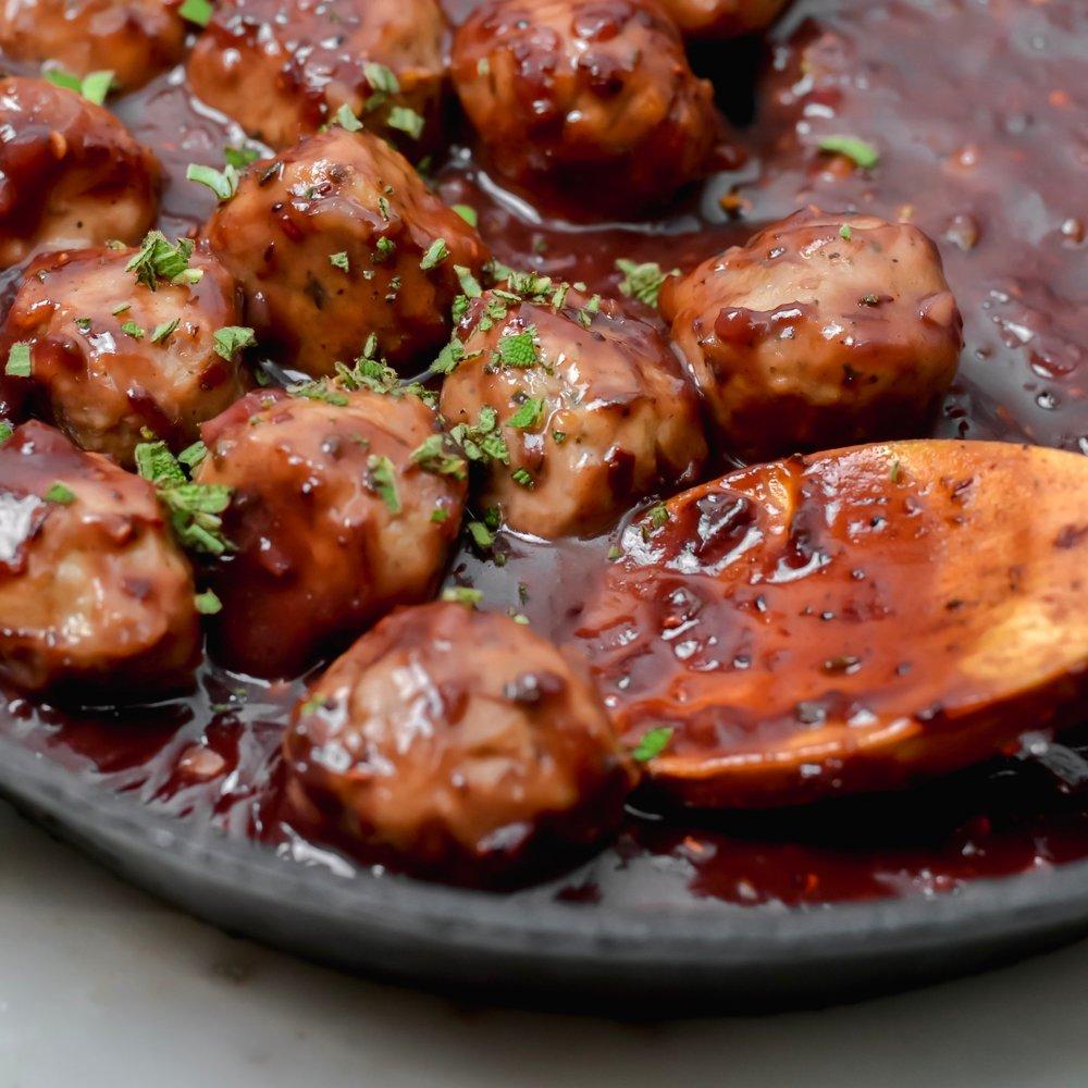 Cranberry Sage Meatballs