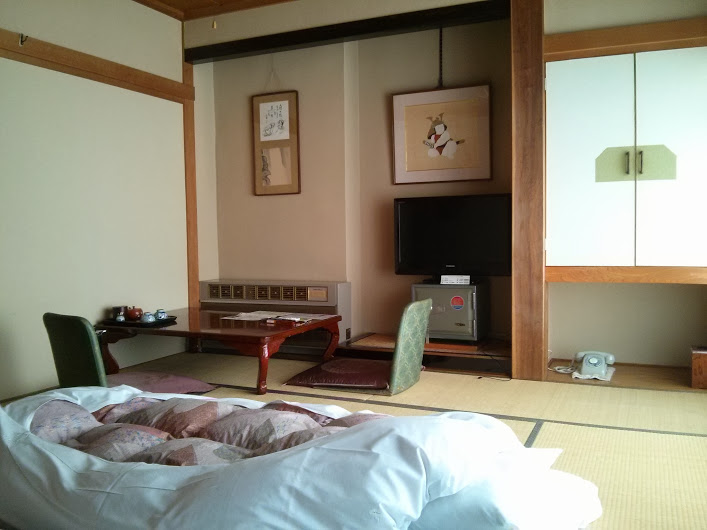 my room in yudanaka (near nagano) comes with a little tea set and dining table.