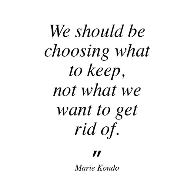 """We should be choosing what to keep, not what we want to get rid of."" Marie Kondo This is one of the many aspects of the KonMari method that resonated with me. I loved the invitation to keep directing my energy toward the positive as opposed to the negative. Such a beautiful and effective way to cultivate positivity.  #konmari #konmarimethod #konmarilife #sparkjoy #konmariconsultants #konmariconsultantsaustralia #positivity #joy #positiveenergy #raiseyourvibration #manifest #lawofattraction #tidy #declutter #organize #homenurturing"