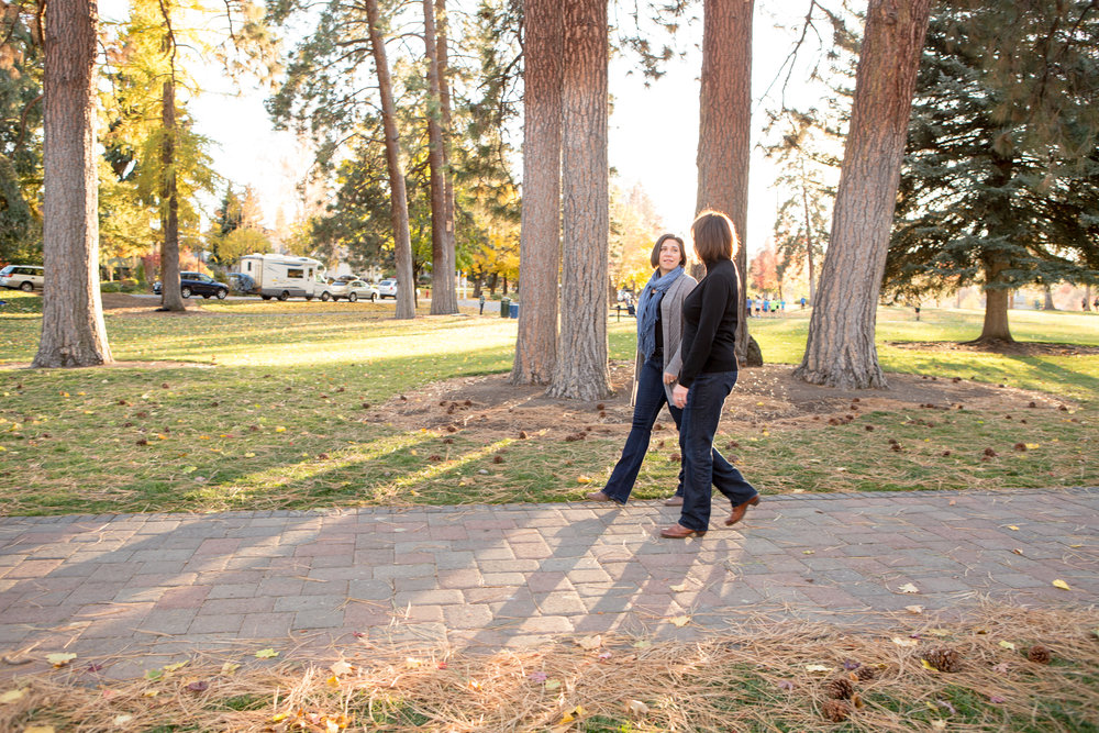 A great option for follow-up sessions is a walk-and-talk in your favorite location.