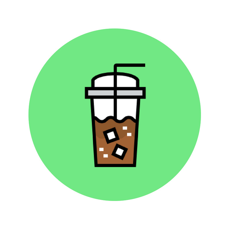 POWERED - by iced coffee