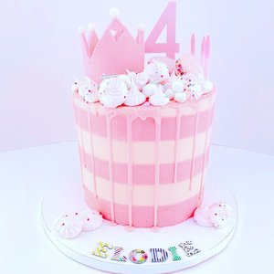 Striped Cake Pink Princess Cakejpeg
