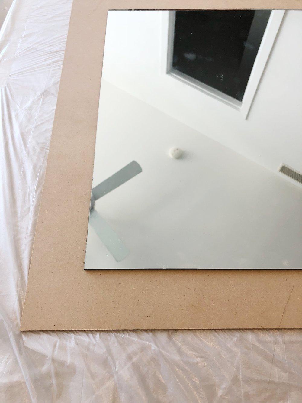 mirror on base