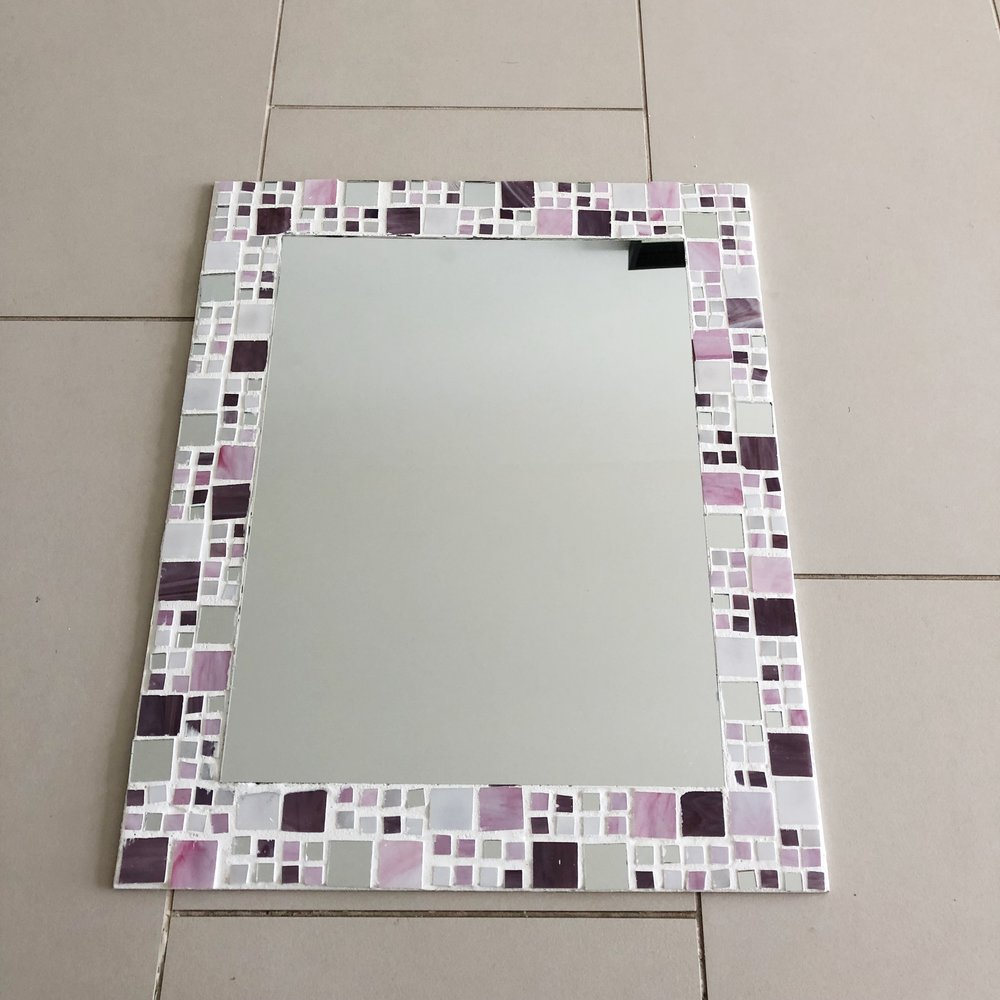 mirror with grout complete