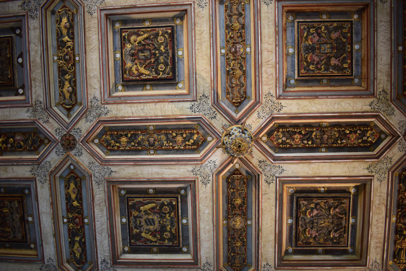 part of the ceiling in the Golden Hall