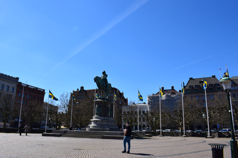 even Charles X was braw, surrounded by Swedish flags