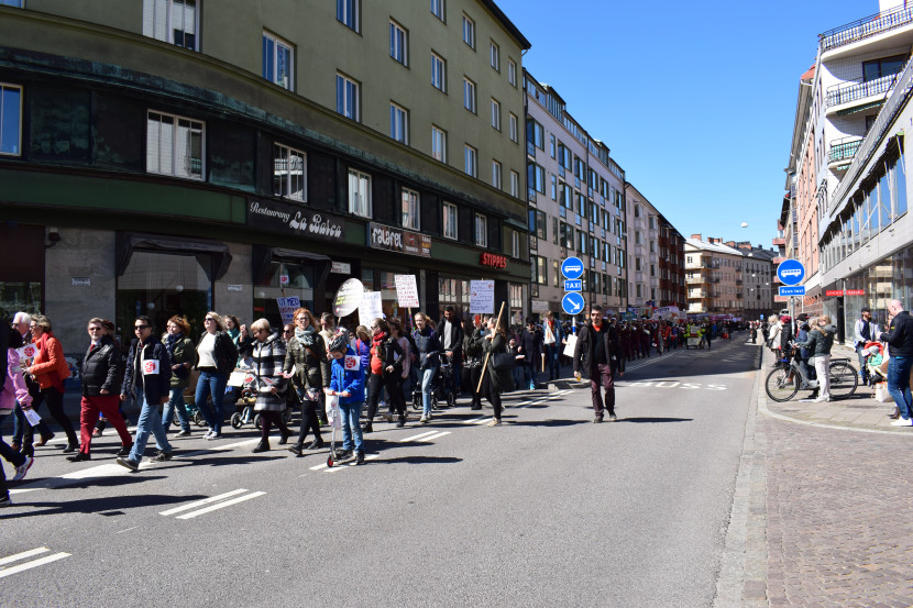 Malmö on the Labour Day: so many people